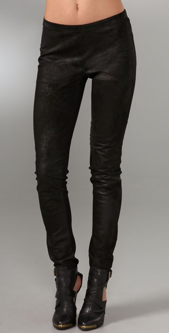 Graham & Spencer Distressed Leather Leggings