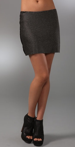 Graham & Spencer Studded Miniskirt