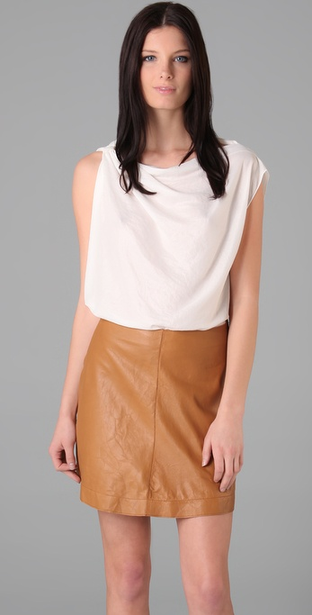Graham & Spencer Draped Boat Neck Top