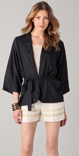 Graham & Spencer Matte Draped Jacket