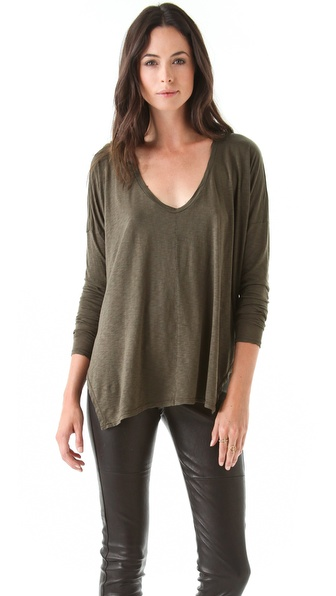 Graham & Spencer Modal Slub V Neck Tee