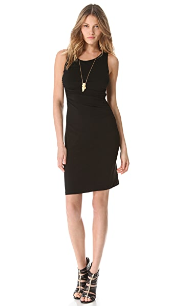 Graham & Spencer Side Ruched Lace Back Dress