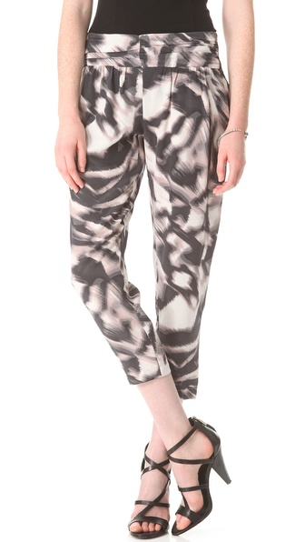 Graham & Spencer Zebra Silk Pants