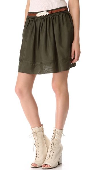 Graham & Spencer Washed Silk Skirt