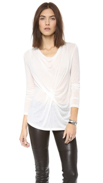 Graham & Spencer Autumn Gauze Twist Top