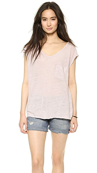 Graham & Spencer Linen V Neck Tee
