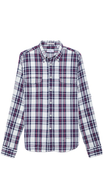 Gant Rugger Oxford Plaid Shirt