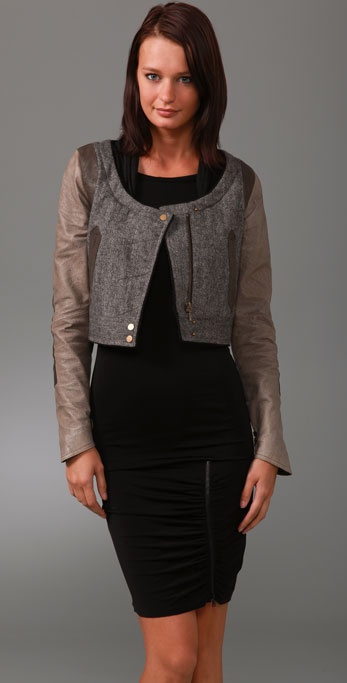 GAR-DE Ventoux Tweed Jacket with Suede Sleeves