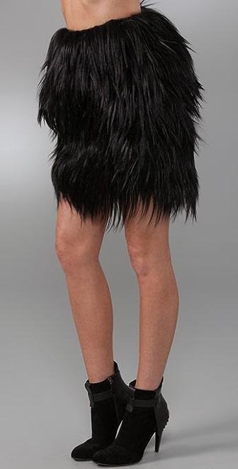 GAR-DE Brazeau Goat Fur Skirt