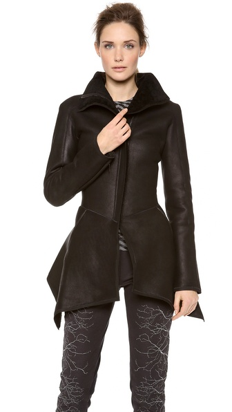 Gareth Pugh Uneven Shaped Shearling Coat