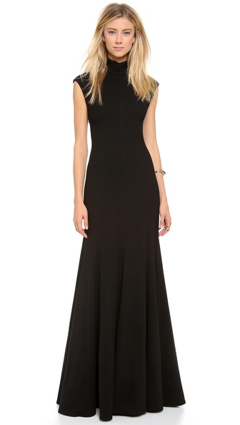 Gareth Pugh Cap Sleeve Long Gown