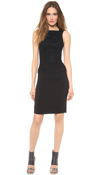 Gareth Pugh Ruched Sleeveless Dress