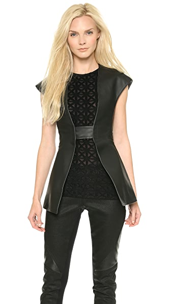 Gareth Pugh Tailored Leather Vest