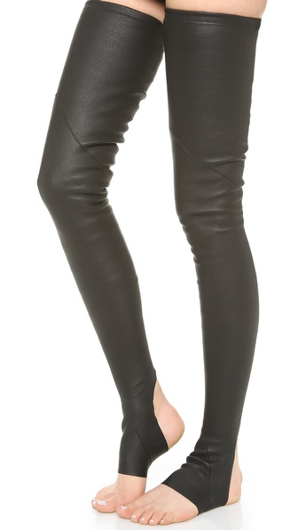Gareth Pugh Leather Socks