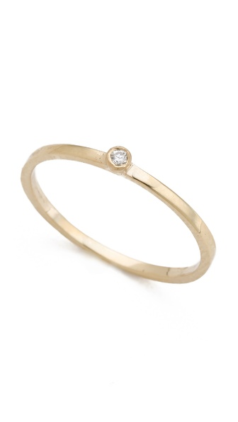 Gabriela Artigas Single White Diamond Ring