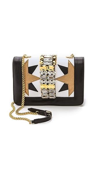 Gedebe Clicky Star Print Shoulder Bag - White/Black