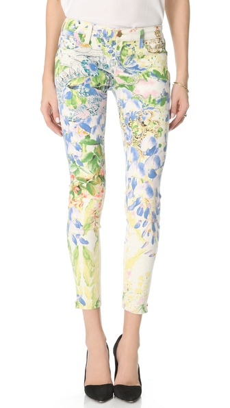 Genetic James Floral Cigarette Jeans