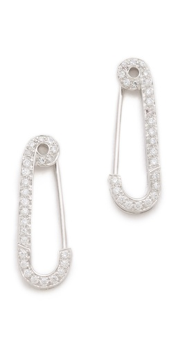 Genevieve Jones Classic Wishing Safety Pin Earrings