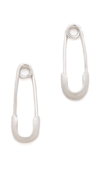 Genevieve Jones Classic Harvest Safety Pin Earrings