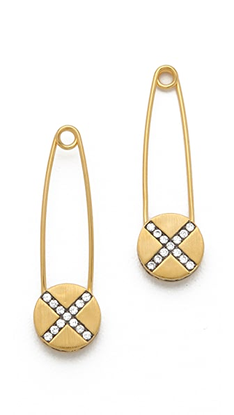 Genevieve Jones Riona Shield Safety Pin Earrings