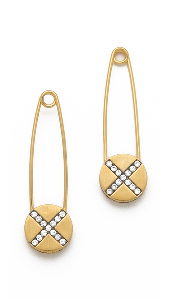 Genevieve Jones Riona Shield Safety Pin Earrings