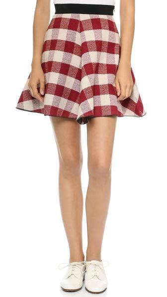 Giada Forte Tartan Circle Skirt
