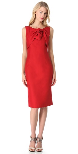Giambattista Valli Sleeveless Tie Top Dress