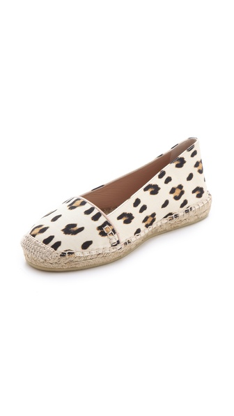 Giambattista Valli Leopard Espadrille Flats