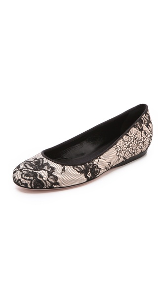 Giambattista Valli Lace Ballet Flats