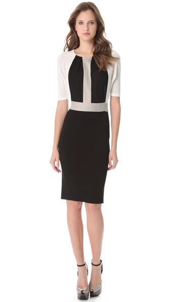 Giambattista Valli Colorblock Knit Dress