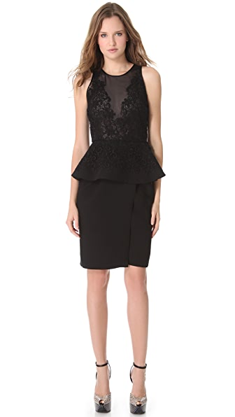 Giambattista Valli Embroidered Dress with Peplum