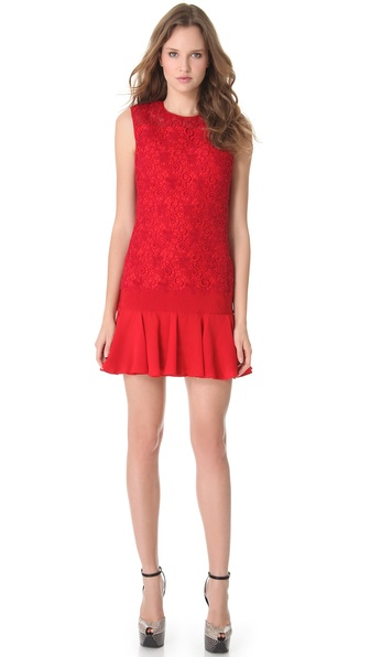 Giambattista Valli Lace Drop Waist Dress
