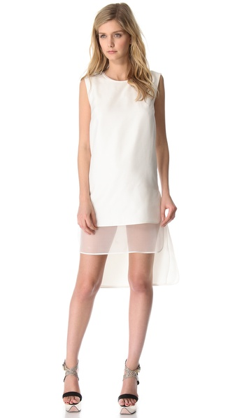 Giambattista Valli Sleeveless Double Layer Dress