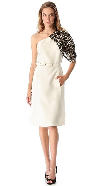 Giambattista Valli One Shoulder Dress