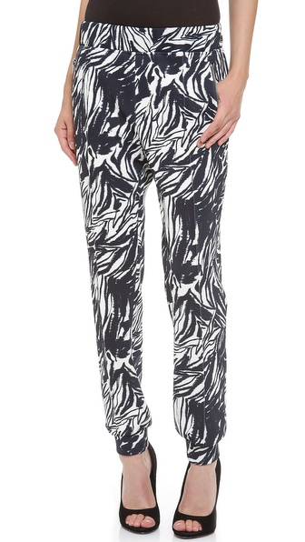Giambattista Valli Neoprene Zebra Jogging Pants