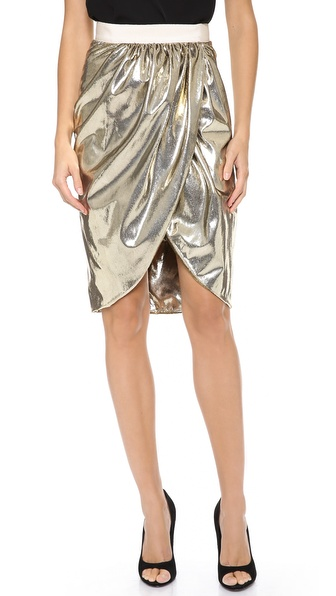 Giambattista Valli Gold Shimmer Skirt