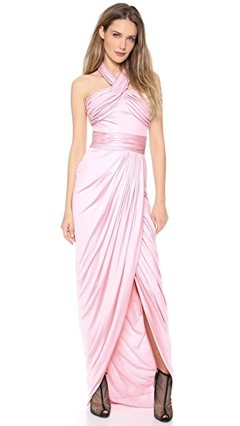 Giambattista Valli Sleeveless Halter Gown