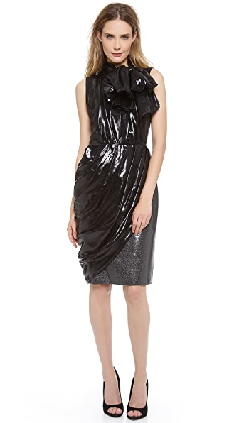 Giambattista Valli Sleeveless Tie Neck Dress