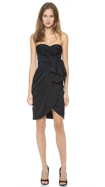 Giambattista Valli Strapless Satin Dress