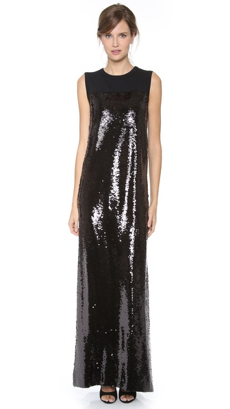 Giambattista Valli Sleeveless Paillettes Dress
