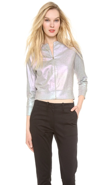 Giambattista Valli Cotton Sweatshirt Bomber