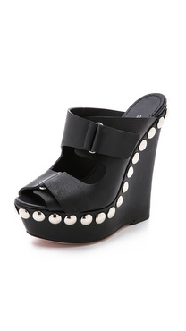 Giambattista Valli Studded Platform Wedges