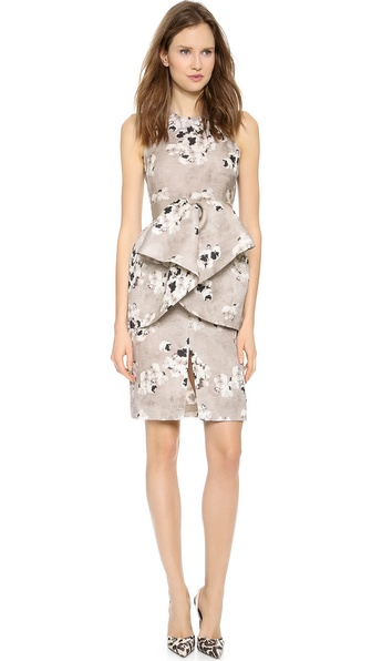 Giambattista Valli Pansy Printed Dress