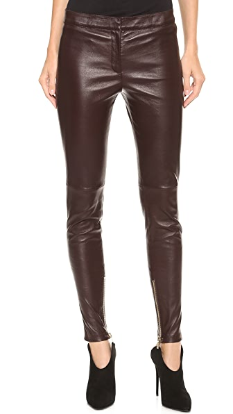 Giambattista Valli Leather Pants