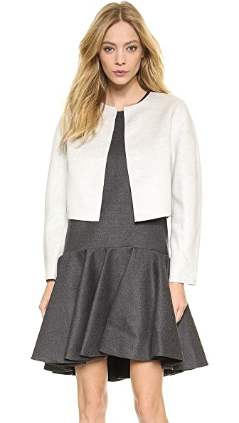 Giambattista Valli Brushed Wool Cropped Jacket