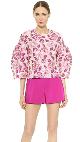 Bell Bell Bell Sleeve Floral Blouse (Multicolor)