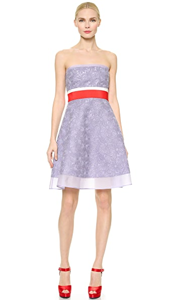 Giambattista Valli Strapless Macrame Dress - Purple
