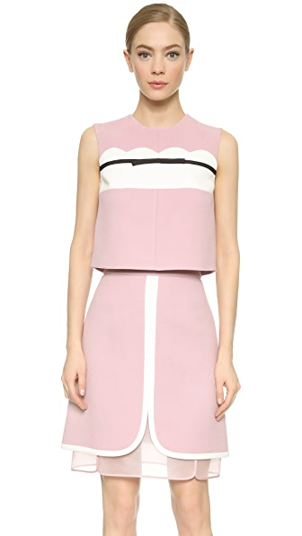 Giambattista Valli Sleeveless Bow Top - Mauve