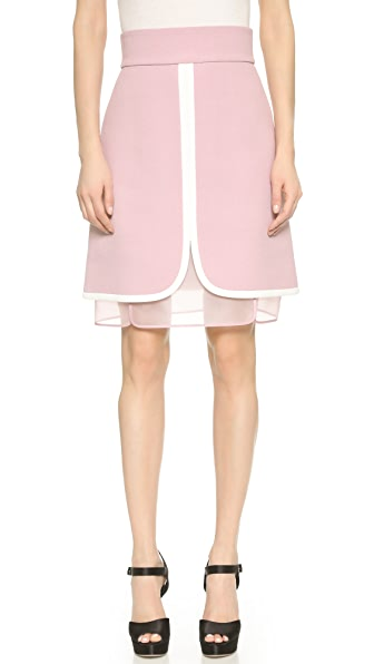 Giambattista Valli Layered Skirt - Mauve
