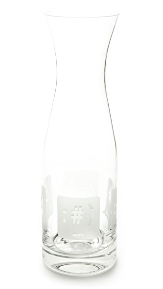 Gift Boutique TXT U Glass Carafe